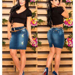 Faldas colombianas jeans