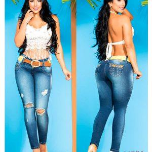Pantalones colombianos a la cintura
